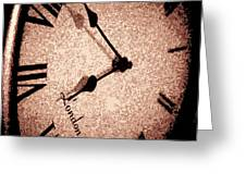Time Waits For Her Greeting Card