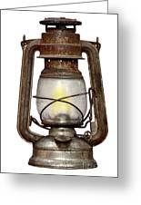 Time Worn Kerosene Lamp Greeting Card