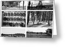 Timeless Brabant Collage - Black And White Greeting Card