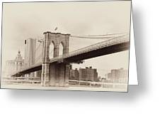 Timeless-brooklyn Bridge Greeting Card