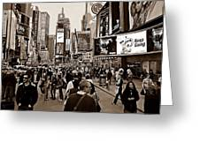 Times Square New York S Greeting Card