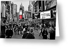 Times Square New York Toc Greeting Card