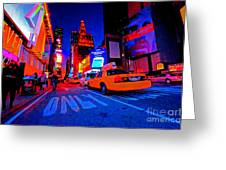 Times Square Nitelife Greeting Card