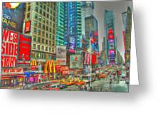 Times Square One Greeting Card by Alberta Brown Buller