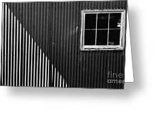 Tin Light And Window Greeting Card