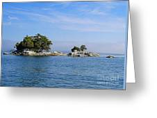 Tiny Island Off Vancouver Island Greeting Card