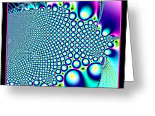 Tiny Rainbow Bubbles Fractal 98 Greeting Card