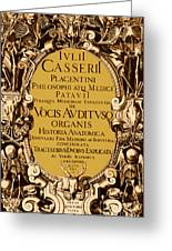 Title Page, Giulio Casserios Anatomy Greeting Card by Science Source