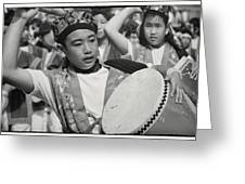To The Beat Of The Drum Greeting Card