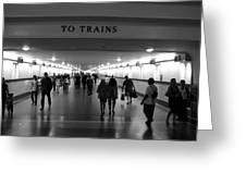 To Trains Greeting Card