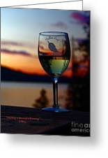 Toasting A Beautiful Evening Greeting Card by Patrick Witz