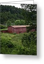Tobacco Barn From Afar Greeting Card