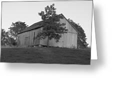Tobacco Barn II In Black And White Greeting Card
