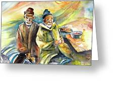 Together Old In Morocco 02 Greeting Card