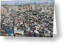 Tokyo Sprawl Greeting Card