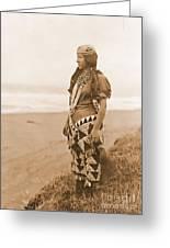 Tolowa Womans Primitive Dress Greeting Card