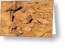 Toltecs, Volcanic Rocks, Mars Greeting Card