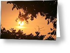 Tomas Point Sunset Greeting Card