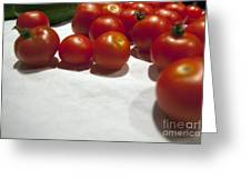 Tomato And Cucumber 1 Greeting Card