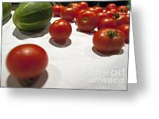 Tomato And Cucumber 2 Greeting Card