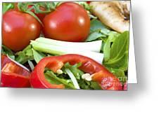 Tomato Salad Close Up Greeting Card