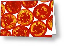 Tomato Slices Greeting Card