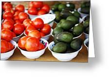 Tomato Y Avacado Greeting Card