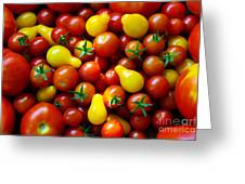Tomatoes Background Greeting Card