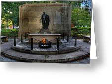 Tomb Of The Unknown Revolutionary War Soldier II - George Washington  Greeting Card