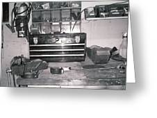 Tool Box And Clamp Work Area Greeting Card