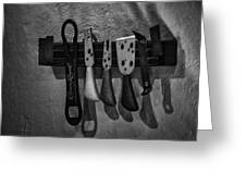 Tools Of The Trade Greeting Card by Brenda Bryant