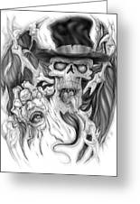 Top Hat Greeting Card by Mike Royal