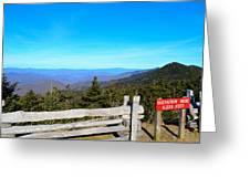 Top Of The Mountain In North Carolina Greeting Card