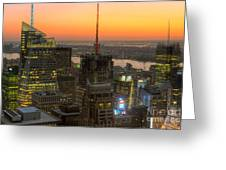 Top Of The Rock Twilight Ix Greeting Card by Clarence Holmes