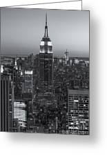 Top Of The Rock Twilight Vi Greeting Card