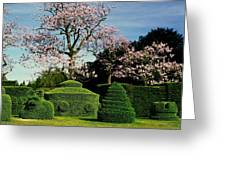 Topiary Garden In Spring Greeting Card