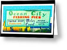 Topsail Island Old Sign Greeting Card