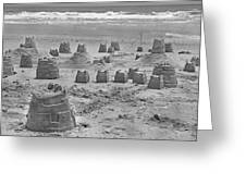 Topsail Island Sandcastle Greeting Card