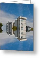 Topsail Island Tower Reflection Greeting Card