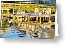 Topsail Sound At Sunset Greeting Card