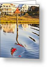 Topsail Sound Sunset Greeting Card by Betsy Knapp