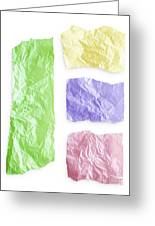 Torn Colorful Paper Greeting Card