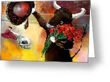 Toro Bravo Greeting Card