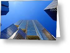 Toronto Financial Core Buildings Greeting Card