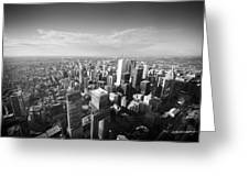 Toronto From Above Greeting Card
