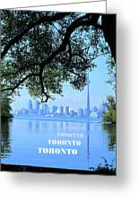 Toronto Harbour Poster Greeting Card