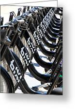Toronto Public Bikes Greeting Card
