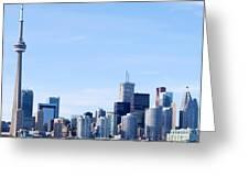 Toronto Skyline Canada  Greeting Card