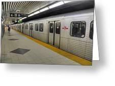 Toronto Subway Greeting Card