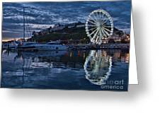 Torquay Marina And The Big Wheel Greeting Card